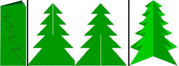 простая бумажная елка