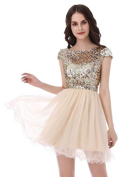 short gold prom dresses   Sang Maestro