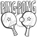 Ping pong sketch Royalty Free Stock Photography
