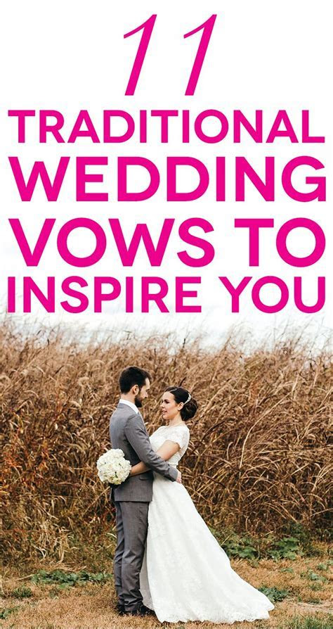 11 Traditional Wedding Vows That Will Inspire You   A