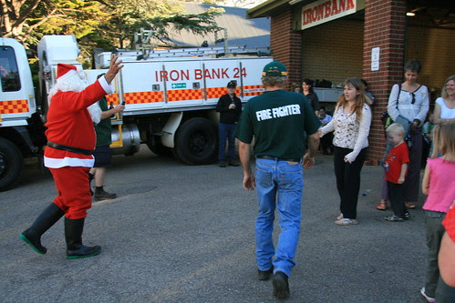 Father Christmas arrives at Iron Bank CFS
