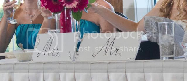 Mr. and Mrs. Wedding Signs
