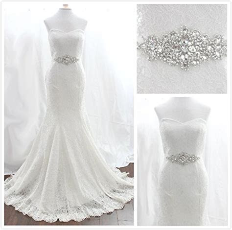 Trlyc Wedding Dress Belt Bridal Sash Pearls Rhinestone