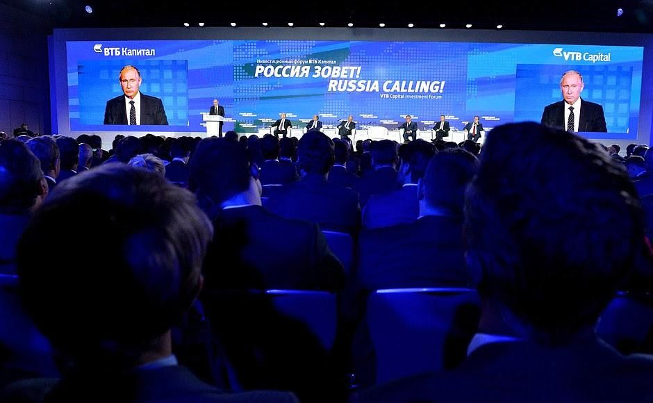 Speaking attheRussia Calling! Investment Forum.