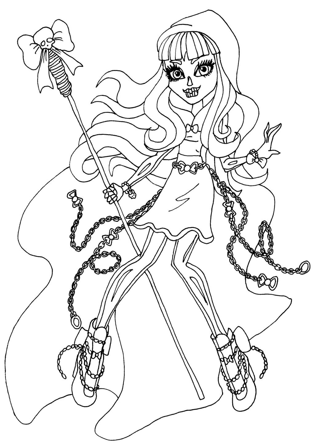 Monster High Coloring Pages Draculaura Draculaura Monster High