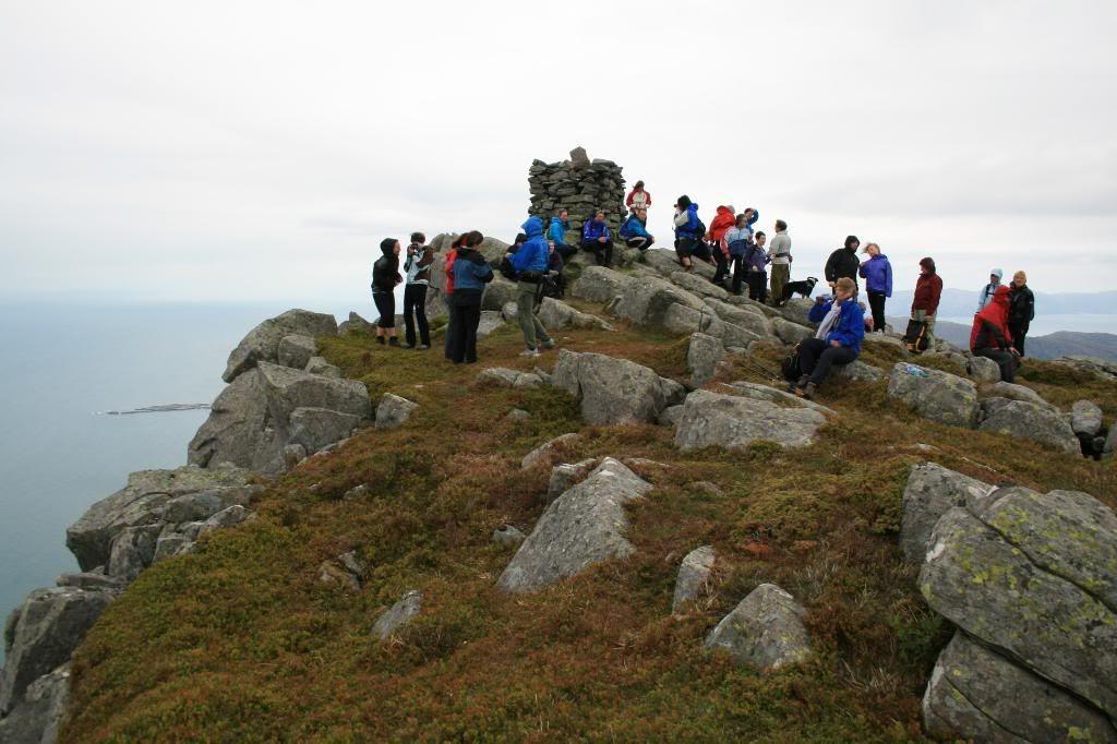 På toppen av Store-Batalden (492 m.o.h.)