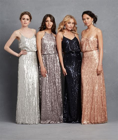 Sequin bridesmaid dresses from @donnamargannyc #wedding #