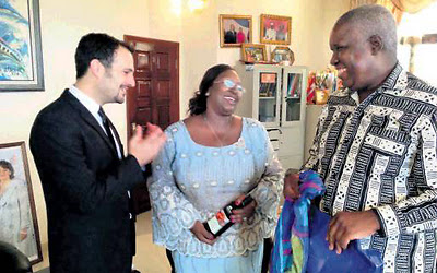 Yotam Politzer with Sierra Leone's President Koroma and his wife. 'We have to help.' (Photo: IsraAID)