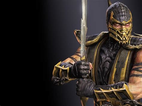 artistic pictures  scorpion  mortal kombat hd