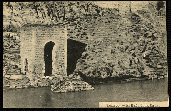 Baño de la Cava (Toledo) a principios del siglo XX. Foto J. Roig