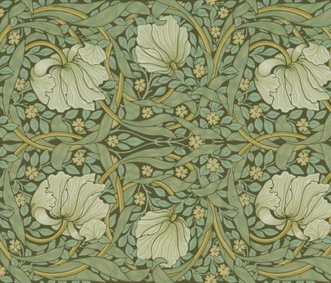 William Morris ~ Pimpernel ~ Original ~ Border wallpaper  peacoquettedesigns  Spoonflower