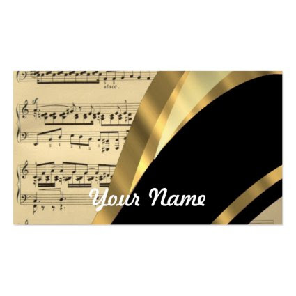 Elegant music sheet business card template