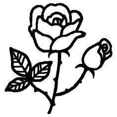 ばらバラ2白黒夏花植物の無料イラストミニカットクリップ