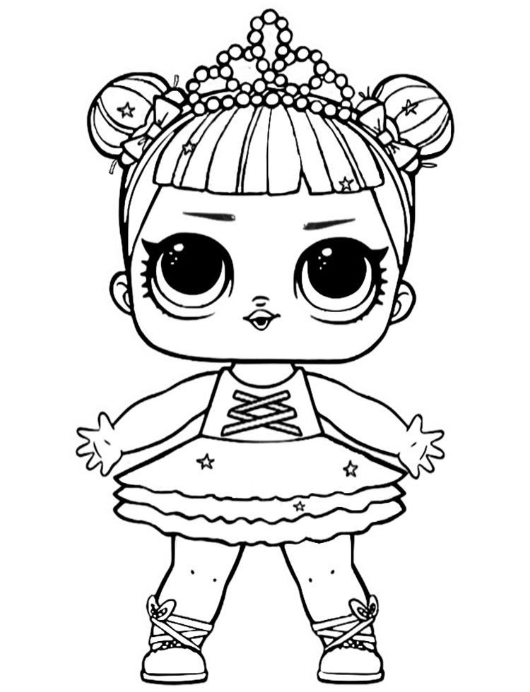 Lol Doll Rocker Coloring Pages - Coloring And Drawing
