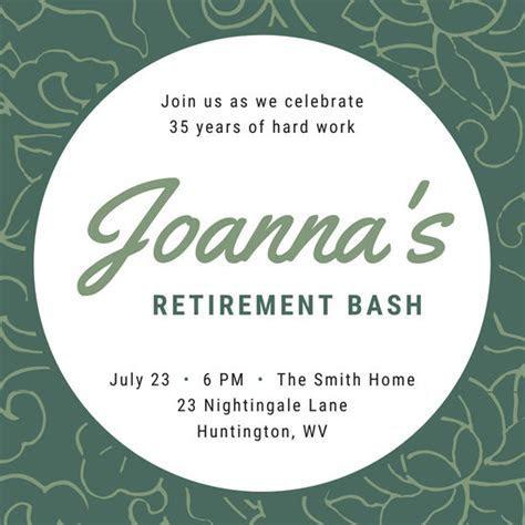 Ornate Background Retirement Party Invitation   Templates