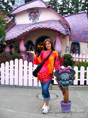 me in front of minnie house