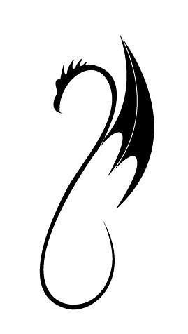 tribal dragon designs. Simple tribal dragon by Dragon