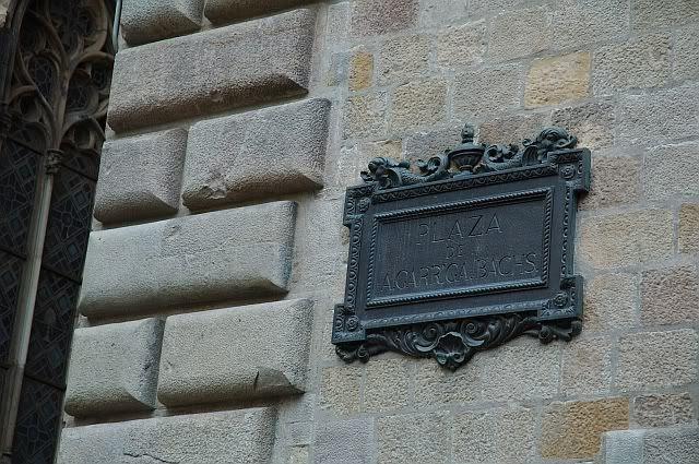 Plaza de A. Garriga Bachs at Barri Gotic Barcelona