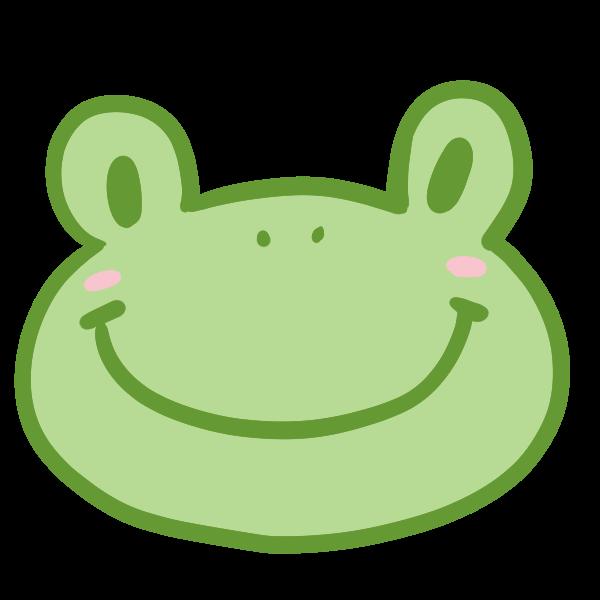 カエルの顔のイラスト かわいいフリー素材が無料のイラストレイン