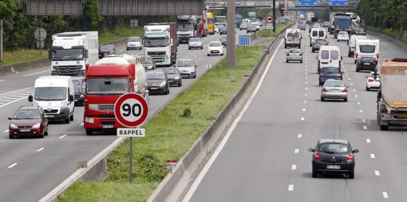 L'autoroute A1 dans le sens Paris-Lille