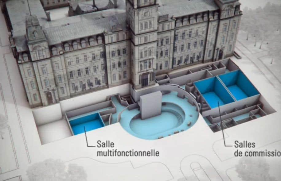 Deux nouvelles salles de commission parlementaire seront aménagées dans le cadre de ce projet.