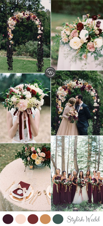 Wedding Trends: 10 Fantastic Burgundy Color Combos for ...