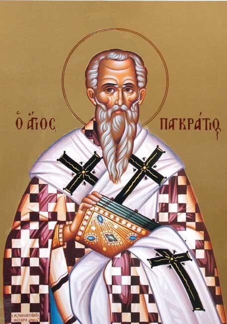 IMG ST. PANCRATIUS, Bishop of Tauromenia, Hieromartyr