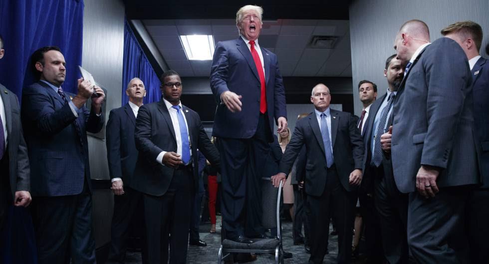 El presidente electo, Donald Trump durante la campaña electoral.