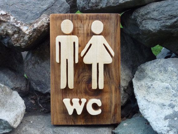 wood wooden wall sign, restroom restroom sign, decor, rustic rustic sign wa sign,