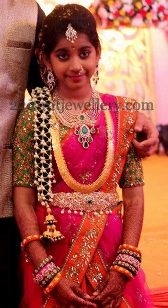 Shriya Half Saree Function   Jewellery Designs