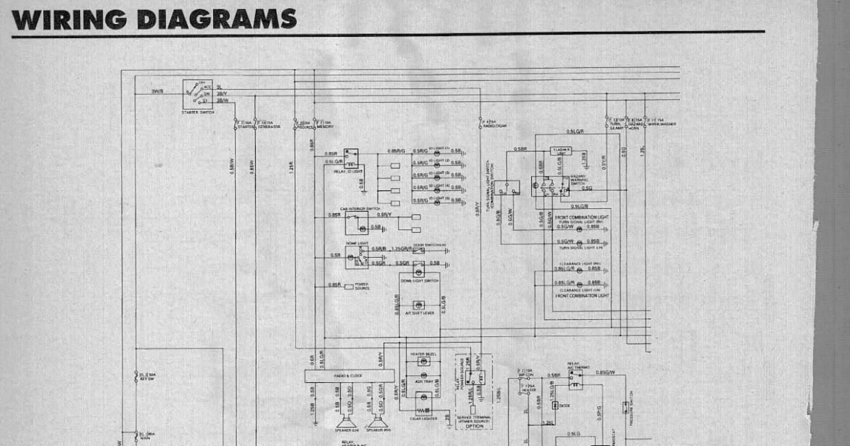 isuzu sbr 422 wiring diagram  6 plug trailer wiring diagram