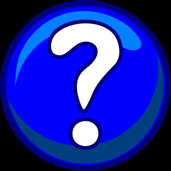 Question Mark - Blue Clip Art at Clker.com - vector clip ...