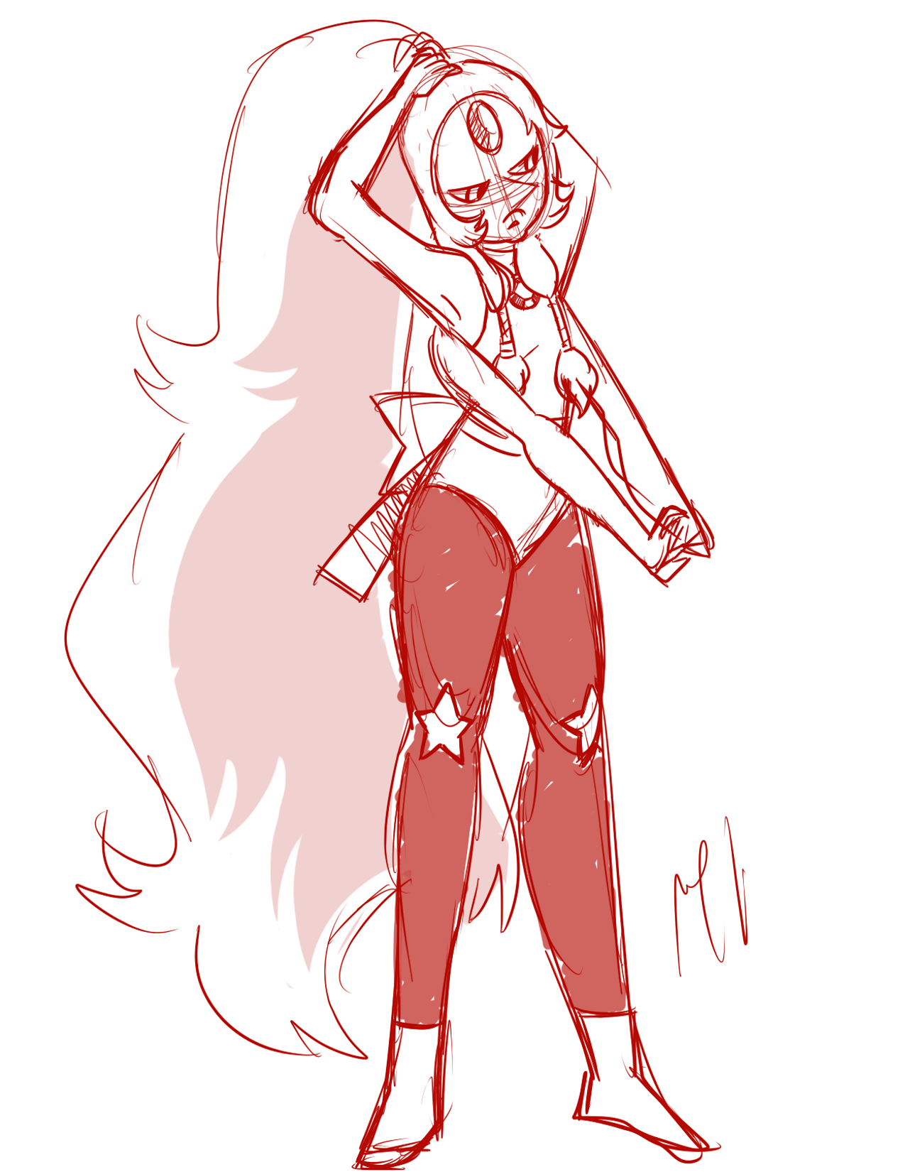 doing some warm up sketches of Opal doing warm ups lol