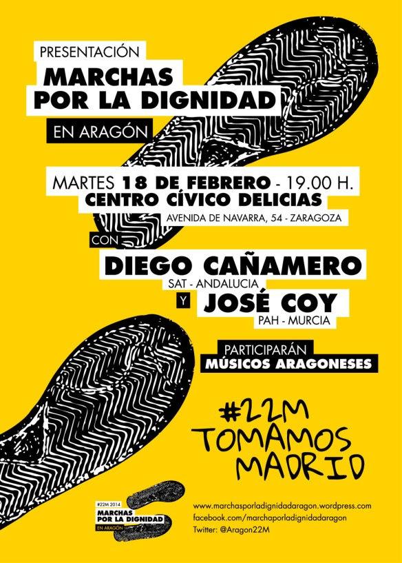 Presentación Marchas por la Dignidad en Aragón