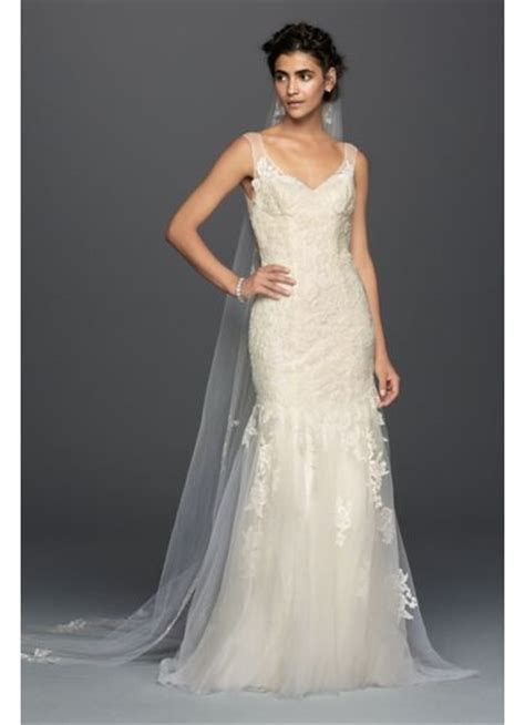 Melissa Sweet Illusion Lace Mermaid Wedding Dress   David