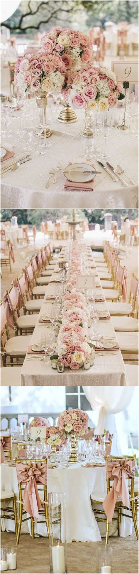 gold and dusty rose wedding decoration ideas   Make Me Happy