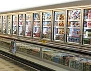La zona surgelati di un supermercato
