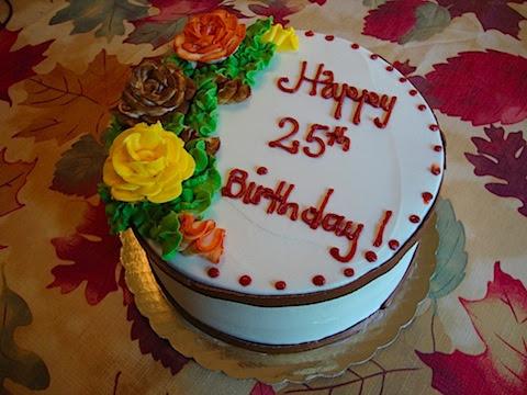 25th Birthday Quotes Cake