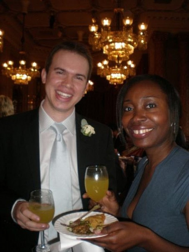 Tribunal: Sheyi Pemsel is thought to be standing by her husband Rupert (pictured together at a wedding in 2009) despite him admitting he paid a prostitute for sex while on duty in a maternity hospital