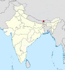 Kart over Sikkim