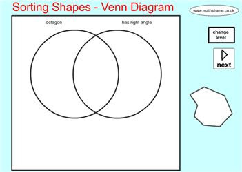 Sorting Shapes Venn Diagram Mathsframe Maths Zone Cool Learning Games