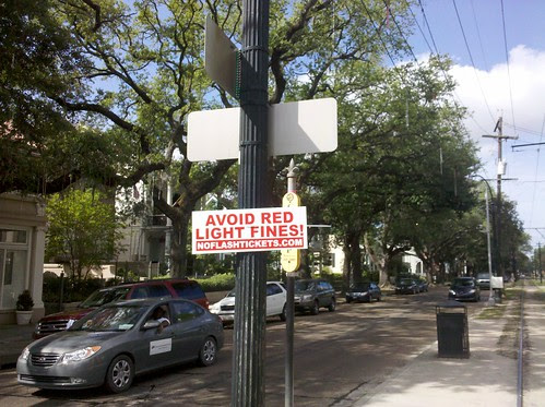 Red Light Bandit Sign