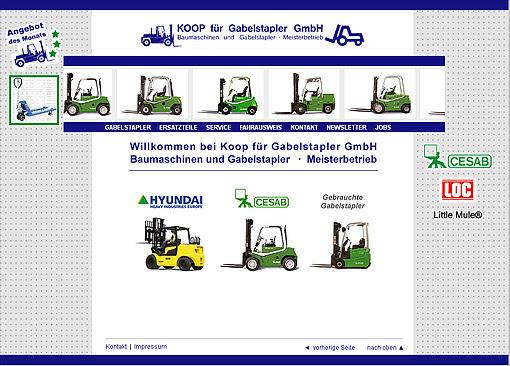 Webupdate von www.koop-gabelstapler.de durch Webdesign-Agentur designbetrieb aus Essen
