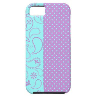 Funky Purple Paisley Polka Dots iphone 5 case