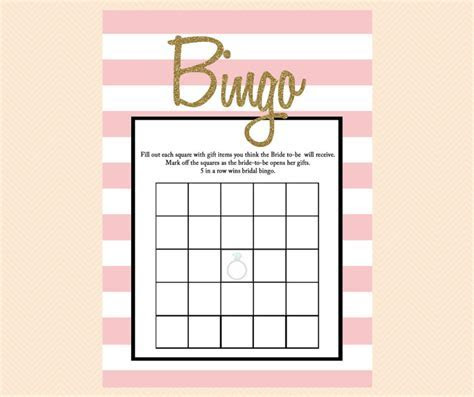 Pink Glitter Bridal Shower Games   Magical Printable