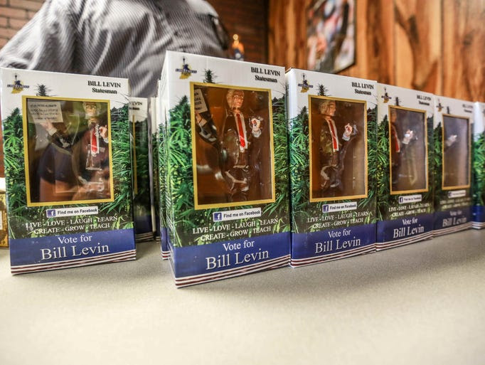Bobble heads of Grand Poobah Bill Levin are on sale