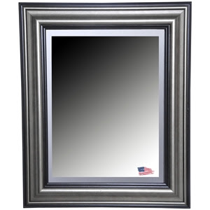 Wall Mirror Antique Smoke Black Frame Beveled Glass Dcg Stores