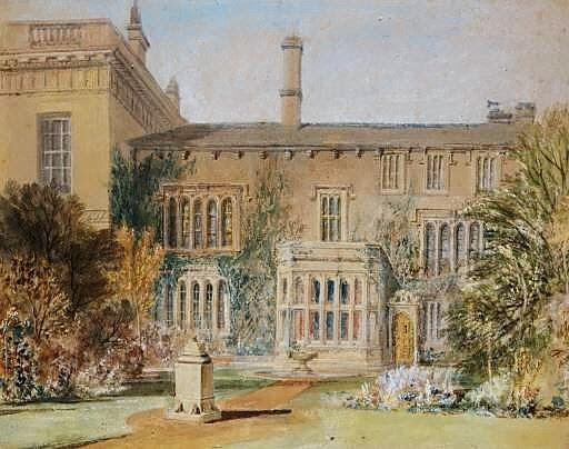 Farnley Hall, east front, 1815; watercolour