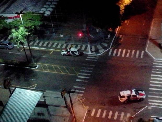 Polícia Militar foi atender a ocorrência na área central  (Foto: Peterson Nunes/ Arquivo pessoal )