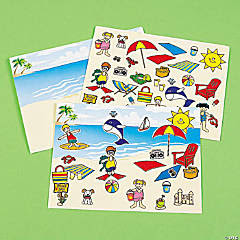 Make-A-Beach Sticker Scenes